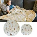 Round Taco Burrito Tortilla Shaped Blanket Soft Flannel Wrap Throw Blanket New image