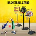 Genki Portable Kids Basketball Hoop Stand System Adjustable Net Height Ring Set