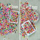 100g DIY Polymer Clay Fake Candy Sweets Sugar Sprinkles Decor for Phone Shell US image