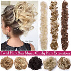 Large Messy Hair Piece Scrunchie Real as Human Look Hair Extensions Bun 31