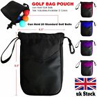 Golf Tee Pouch Bags Valuables Clips Inner Zipper Bag Hold 20 Balls Gifts 1 Pc UK