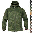 Mens Soft Shell Jacket Shark skin Army Waterproof Outdoor Coat Hooded Camouflage