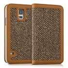 CASE WALLET STYLE DONNA FOR Samsung Galaxy S5 S5 Neo COVER FLIP TWEED BAG CASE
