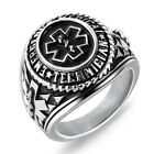 Stainless Steel Men's Emergency Medical Technician EMT Paramedic Ring
