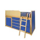 Blue Captains Bed / Blue Midi Sleeper / Blue Storage Bed / Blue Cabin Bed