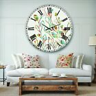 Designart 'Rainbow Coloured Vines And Flowers' Cabin & Lodge Large Wall CLock