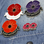 English Letter Lest We Forget Brooch Pin Badge Scarf Clothes Lapel Decor Sanwood