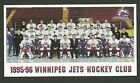 Winnipeg Jets 1995-96 Team Issued Postcard Style Hockey Photo Card