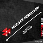 Massey Ferguson with Badge Left Sticker Decal - Multiple Sizes & Colours Tractor
