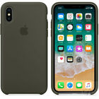 """For Apple iPhone X/XS 5.8"""" Original Soft Silicone Phone Case Dark Gray Fit Cover"""