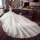 Beautiful A Line Wedding Dresses White Lace Appliques Bridal Gowns Party Evening
