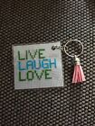 LIVE LAUGH LOVE Cross Stitch Keyrings