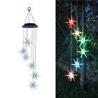 LED Solar Powered Sea Urchin Wind Chimes Light Home Garden Hanging Lamp Decor