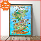 Game Of Thrones GOT Westeros Map Portrait Paper Poster Without Frame US Supplier
