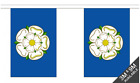 Yorkshire Rose Flag Bunting - 3m 6m 9m Metre Length 10 20 30 Flags - Polyester