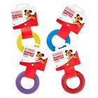 Dog Rubber Ring Solid Tough Hard Strong Heavy Duty Fetch Toys Treat For Puppies