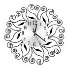 Luxury Flower-Shaped Diamond Wall Mounted Metal Clock Living Room Art Decor Home