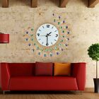 Vintage Style Peacock Antique Wall Clock For Home Office Decor Metal Wall Clock
