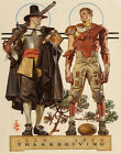 Leyendecker Thanksgiving 300 Years Pilgrim And Football Player Print 11 x14#3355