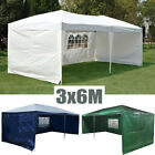 3mx6m Outdoor PE Garden Gazebo Marquee Canopy Tent Party Camping BBQ Waterproof
