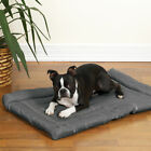 Charcoal Dog Beds Water Resistant Nylon Crate Mat Indoor Outdoor Use Pick Size