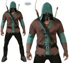 Mens Archer Assasins Fancy Dress Costume Archery Robin Hood Type Outfit New fg