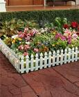 6 Foot Solar Border Picket Fence Panel For Garden Yard Flowerbed-4 Colors Avail