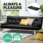Artiss Sofa Bed Lounge Couch Futon Beds 2/3 Seater Leather Fabric Recliner