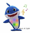 Baby Shark Plush Singing LED Light Plush Toys Music Doll English Song Toy Gift