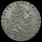 1787 George III Early Milled Silver Sixpence, Hearts, G/EF