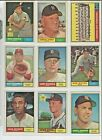 1961 Topps EX+/EX-NM+ Nice Sharp Cards ! Pick From List Complete Your Set !