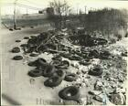 1979 Press Photo Illegally dumped tires on Bloomfield Avenue, Bloomfield