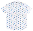 DISNEY DONALD DUCK BUTTON DOWN SHIRT DISNEYLAND MENS TOP WHITE