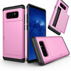 Credit Card Holder Shockproof Rugged Phone Case For Samsung Galaxy Note 9 8 5 4