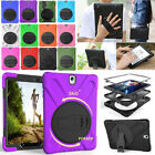 "For Samsung Galaxy Tab A E 8.0"" 9.7"" 360° Rotating Heavy Duty Stand Case Cover"