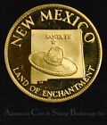 47th State New Mexioc Land of Enchantment Gold plated Silver Medal