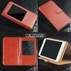 For iPhone 3/4/5/6/7/8 iPod touch 456 -Flip View Window Cover Stand Leather Case
