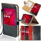 For Various Asus ZenFone 2/3/4/Go - Flip View Window Cover Stand Leather...