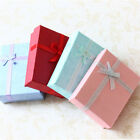 6x Jewellery Gift Boxes Coloured Earring Necklace Bracelet Ring Set Display Bag