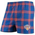 New York Knicks Concepts Sport Homestretch Flannel Boxer Shorts - Royal on eBay