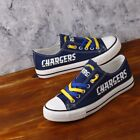 Los Angeles Chargers Limited Print NFL Fans Low Top Canvas Shoes for women $64.99 USD on eBay