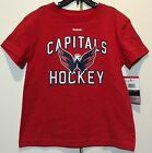 New Washington Capitals Reebok Kids T-shirt Size Medium 5/6 Red Hockey Lil Boy's $9.99 USD on eBay