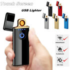 usb charging electronic rechargeable flameles windproof cigarette lighter no gas