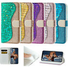 Laser Bling Luxury Leather Stand Wallet Case Cover For iphine XS MAX XR 6S/7/8 +
