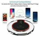 Qi Wireless Charger Charging Pad For Phone XS MAX XR 8 Plus Samsung S9 S8 LG