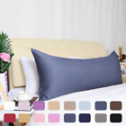 Zippered Silky Satin Body Pillow Cover Long Pillow Cases Covers image
