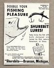 1946 Print Ad Shurebite She Devil Fishing Lures Bronson,MI