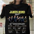 James Bond 007 58th Anniversary Character Signatures T Shirt Black Men S-6XL $19.99 USD on eBay