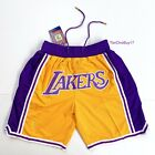 Lakers Basketball Team Shorts Lebron James Summer League Mens Size S-2XL US