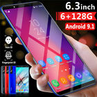 X27 Plus Smartphone 6.3'' Android 9.1 Dual Sim 6g+128g Mobile Phone Face Unlock